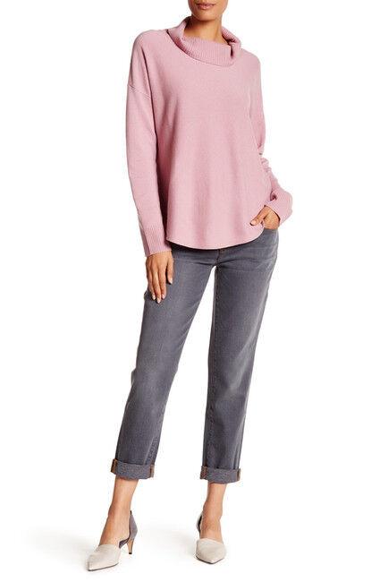 SZ 4 Eileen Fisher Org Cotton Stretch Faded Denim Boyfriend Jeans NWT