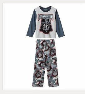 Pant Set Boys Clothes Size 4 4t Star Wars Darth Vader Fleece Pajamas Pjs Shirt