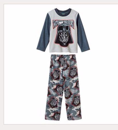 Pant Set Boys Clothes Size 4 4t Star Wars Darth Vader Fleece Pajamas Pjs Shirt