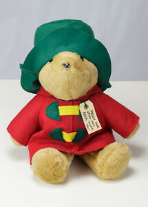 """1997 Paddington Plush Bear With Ornament Sears Red & Green Kids Gifts 18"""" Cute!"""