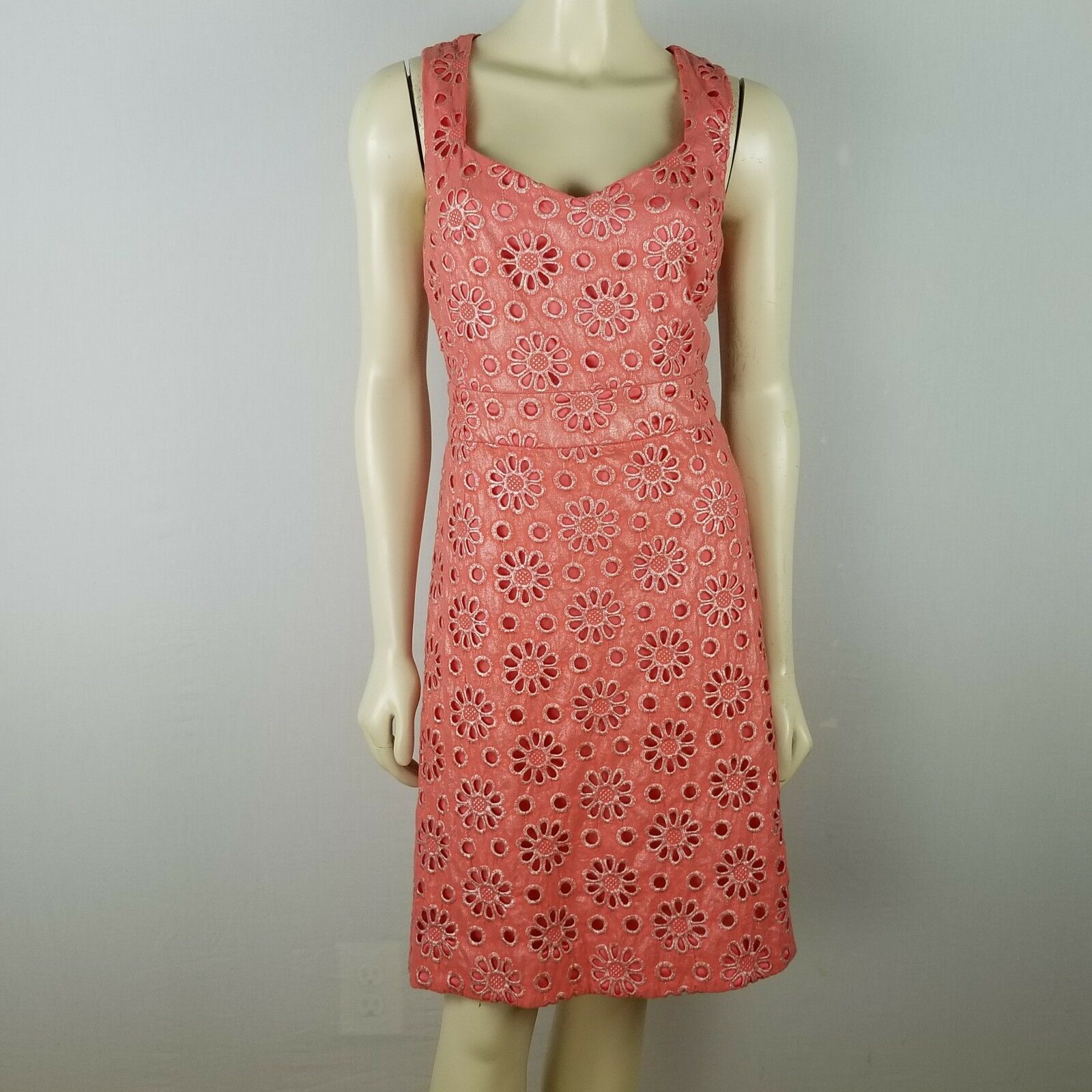 Maeve eyelet colord empire waist summer cotton Anthropologie dress sz 8