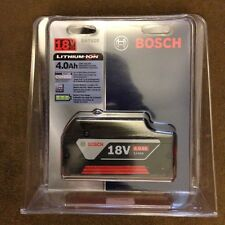 New Bosch BAT620 18V 18 Volt 4.0Ah Lithium Ion Battery FatPack Li-ion NIB