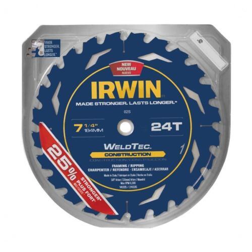 "~ IRWIN Marathon with Weldtec 7-1//4/"" 24-T Carbide Circular Saw Blade 24035"