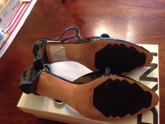 Damenschuhe Karan schwarz patern  Leder schuhe Größe 10