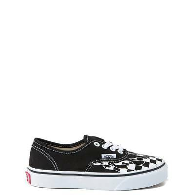 NEW Youth Vans Authentic Checkered Flame Skate Shoe Boys Girls | eBay