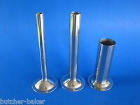 (3) Sausage Stuffer Tubes For Back To Basics & Oster Meat Grinder Stainless