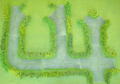 Wargames 15mm  Road junction HEDGES rapidfire, Flames of war, WW2, by FatFrank