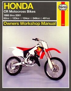 haynes workshop manual honda cr cr80 cr125 cr250 cr500 1986 to rh ebay co uk