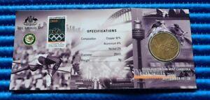 2000 Australia $1 Olymphilex Commemorative Coin Queen Elizabeth II with Folder