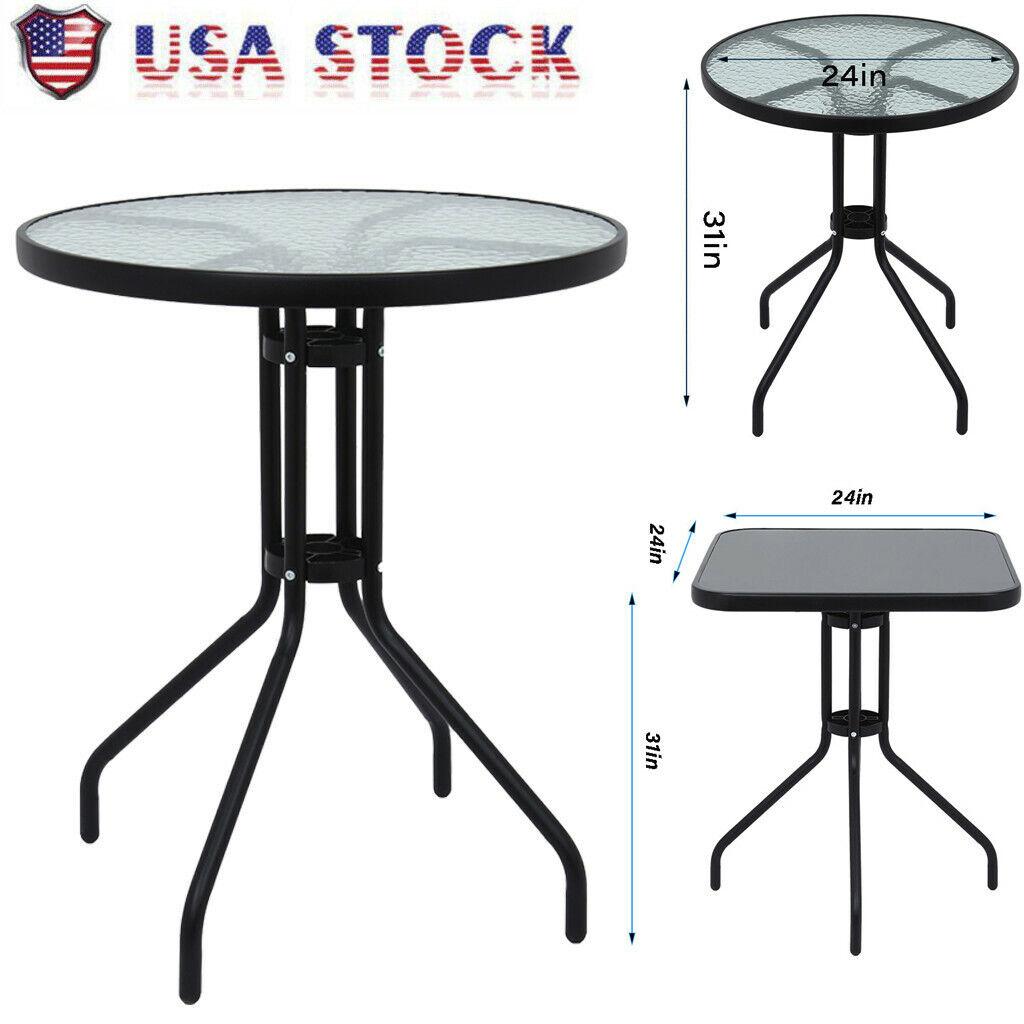 Square/Round Garden Patio Furniture Set Outdoor Table Conser