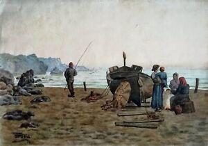 JOSEP-GUARDIOLA-BONET-1869-1950-aquarelle-1890