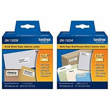 Brother Dk 1209 Small Address Labels White 2 12 X 1 12 Roll Of 800 Amp Genu