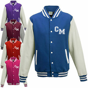Kids Varsity Jacket - Custom Name Initials Letterman College ...