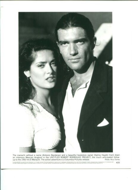 Antonio Banderas Salma Hayek Desperado Original Movie Press Still Photo
