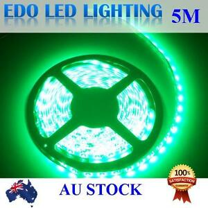 12V Green 5M 3528 SMD 300 LED Strips Led Strip Lights Waterproof Car Boat Garden