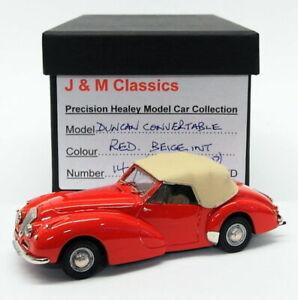 J-amp-M-Classics-auto-modello-IN-SCALA-1-43-JM73-Healey-Duncan-CONVERTIBILE-Rosso
