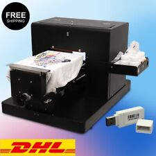 Dtg Flatbed Multicolor Printer A4 T Shirt Clothes Printing Machine White Dark