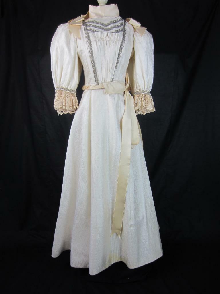 1895 Wedding Gown Victorian True Antique Dress - … - image 1