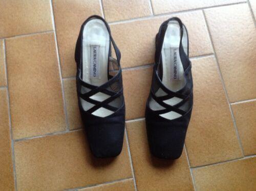 P 5 Cuir 36 Chaussures Noir Nubuck Ouvertes qWcIwa0Y1