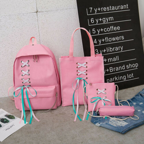 Women Backpack Fashion Student Bag Bow Bag Canvas Bag Girl Backpack Travel Bags