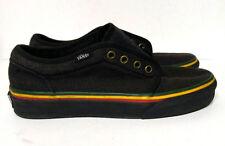 Vans Rasta Bob Marley Skateboarding Shoes Hemp Men's 6 Women's 7.5 Black Red
