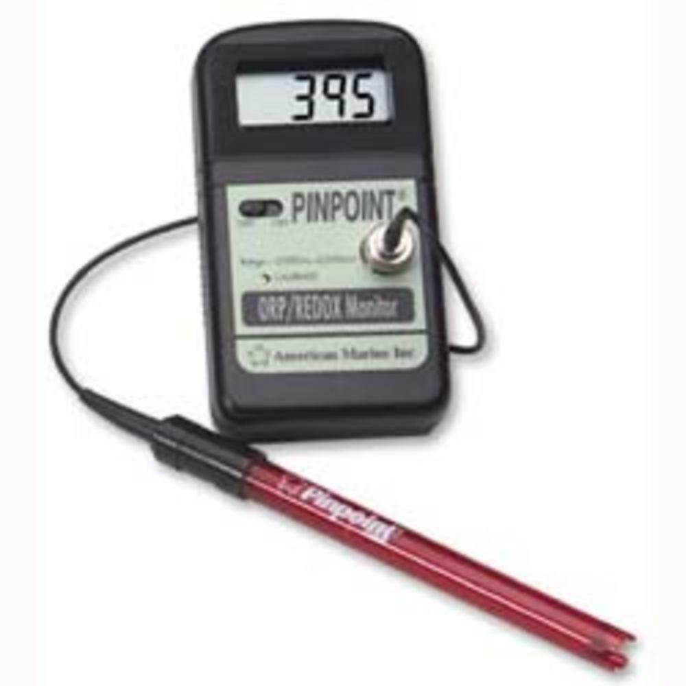 American Marine Pinpoint ORP Monitor with probe probe probe and calibration fluid d4432e