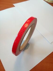 NEW HIGH INTENSITY REFLECTIVE TAPE RED 10mm x 10m