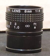 NEW Computar TV Lens 8mm 1:4  CCTV LENS