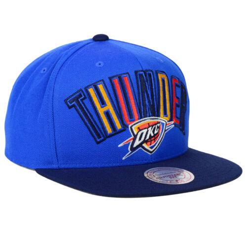 huge discount e26dc e2dcf 3 of 6 Oklahoma City Okc Thunder Nba Mitchell   Ness Flat Bill Snapback Cap  Hat ...