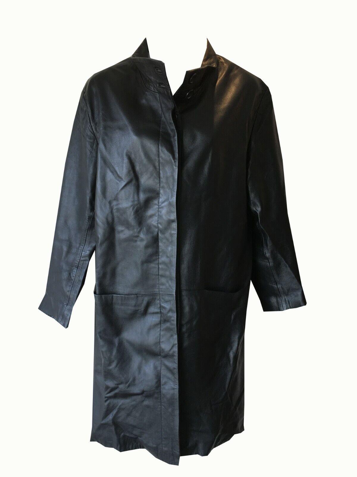 Bosques Genuino Mujer señoras de largo Chaqueta De Cuero  14 Negro  los nuevos estilos calientes