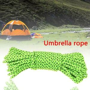 10M Green Reflective Canopy Tent Rope Guy Line Camp Cord B4A7 2.5mm B4H6 A2H4