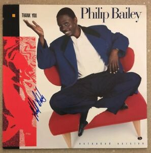 """Philip Bailey Signed """"Thank You"""" Record! Obtained in Person!"""