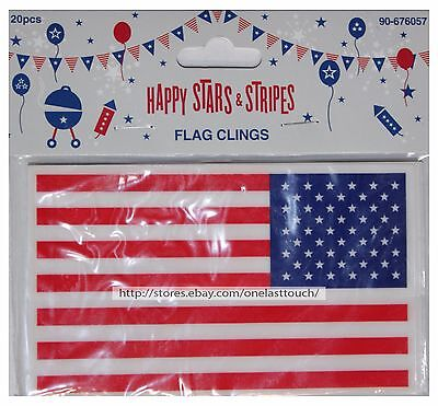Window Clings 4th of July Holiday Decorations MADE IN THE USA 5 Sheets