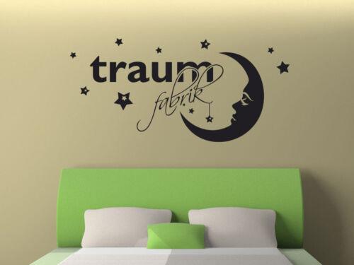 """S299 XXL Wandtattoo /""""Traumfabrik/"""" aufkleber Schlafzimmer Traum Mond Sterne"""