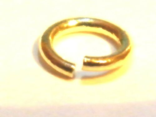 """Findings-Jewellery Making .375 Gold 9ct Yellow Gold 7mm  Jump Ring Light /""""Open/"""""""