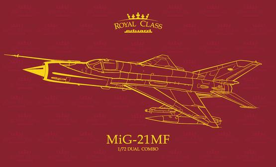 Eduard Models 17 1 72 Royal Class  MIG-21MF Fighters - Dual Combo Kits