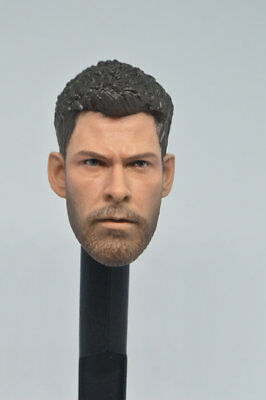 "1//6 Model Man Doll Head Sculpt  Male Heads carving F 12/"" Figure Body"