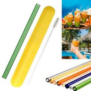Reusable-Glass-Straw-Wedding-Birthday-Party-Drinking-Straws-Set-Cleaning-Fast