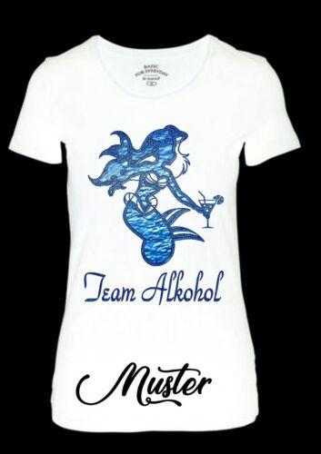 TEAM ALKOHOL --Bügelbild-Color T-Shirts-Stoffe-Größe wahlweise** 3813