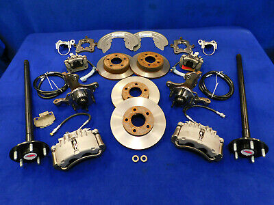 1987-1993 Mustang 5.0 GT 5-Lug Conversion D//S Front Brake Disc Rotors Hawk HPS