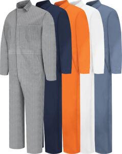 NEW-Red-Kap-Men-039-s-Snap-Front-Cotton-Work-Coveralls-5-colors-CC14-Uniform