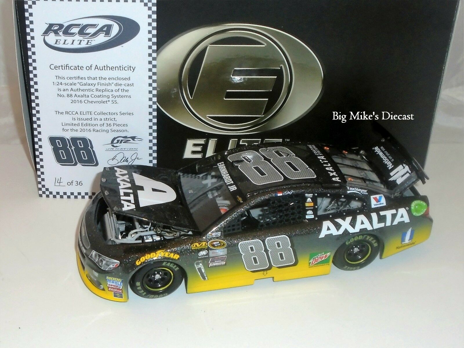 2016 Dale Earnhardt Jr Axalta 1 24 Diecast Galaxy  ELITE  of 36