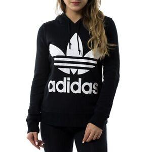 Détails sur Adidas Sweat Shirt Trefoil à Capuche CE2408 Noir Modèle CE2408