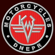 """DNEPR MOTORCYCLES EMBROIDERED PATCH ~3"""" K750 MT-9 MT-11 MT-16 SIDECAR 303 16 M"""