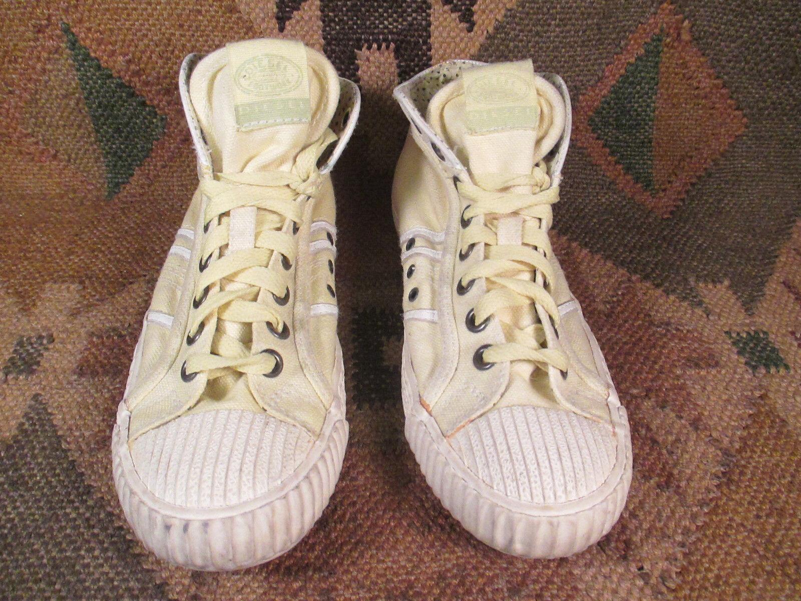 RARE     Diesel jaune Cnvas & & & Leather chaussures Athletic baskets femmes  Taille 36.5 88b994