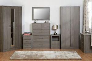 Lisbon-Chest-of-Drawers-Wardrobe-Bedside-Dresser-Black-Wood-Grain-Effect-Veneer