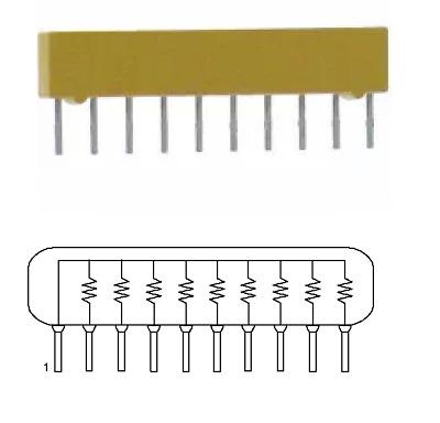 Resistor Networks /& Arrays 10pins 20Kohms Bussed 100 pieces