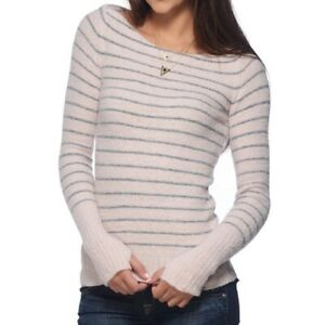 NWOT Free People Misty Pink Ballet Sleeve Wide / Boat Neck Sweater Size XS