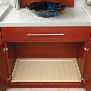 Details About Rev A Shelf Almond Undersink Bathroom Vanity Drip Trays For 21 33 Cabinets
