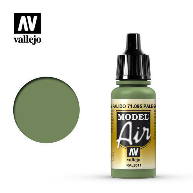 VALLEJO 71095 MODEL AIR PALE GREEN WATER BASED ACRYLIC AIRBRUSH HOBBY PAINT 17ML